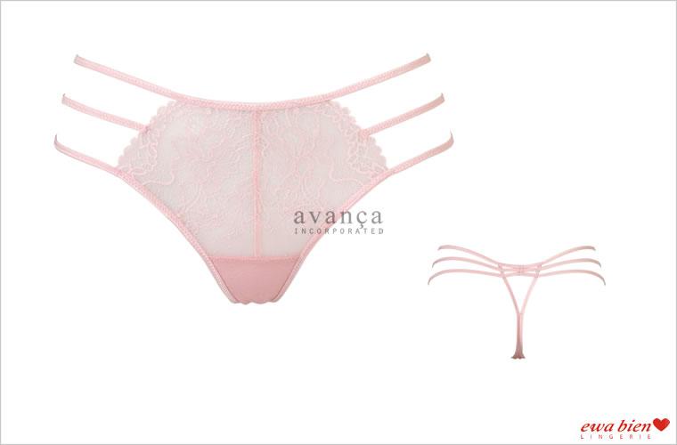 3本のサイドラインがセクシーなGストリングタンガ(Tバック)。カラーは淡いピンク色。愛と癒しの宝石「ローズクォーツ」のような少しスモーキーがかった大人のベビーピンクです。
