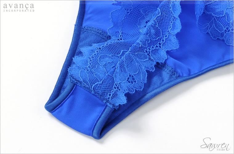 クロッチ部分(ショーツの股部分)は当て布が付いた2枚仕立てです。