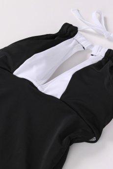 画像8: Alquarte Miami Bebe スイム・ウェア(ブラック×ホワイト・水着)[SW041 Black]【送料無料】 日本製・高級ランジェリー (8)