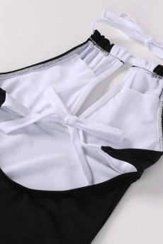 画像9: Alquarte Miami Bebe スイム・ウェア(ブラック×ホワイト・水着)[SW041 Black]【送料無料】 日本製・高級ランジェリー (9)