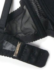 画像11: 解けるリボンのカバー付きオープンバストブラジャー(シェルフブラ・ブラック) [V-6451]【送料無料】輸入下着・高級ランジェリー (11)