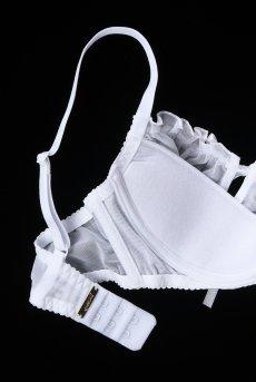 画像10: 解けるリボンのカバー付きオープンバストブラジャー(シェルフブラ・純白ホワイト) [V-6461]【送料無料】輸入下着・高級ランジェリー (10)