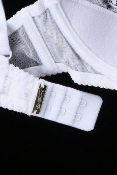 画像9: レースカバー付きオープンバストブラジャー(シェルフブラ・純白ホワイト) [V-6711]【送料無料】輸入下着・高級ランジェリー (9)