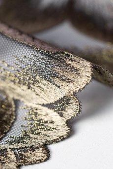 画像16: 一枚レースブラジャー(大きいサイズ・B〜Mカップ・ブラック×ゴールド)[ARYA black-gold B104]【送料無料】輸入下着・高級ランジェリー (16)