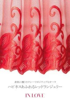 画像15: 一枚レースブラ(ノンパテッドブラ・シースルー・レッド)[IN LOVE soft]【送料無料・即日発送】輸入下着・高級ランジェリー (15)