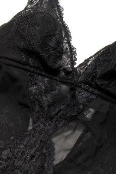 画像12: テディ(ボディスーツ・クロッチ開閉式・ソフトカップ・ブラック)[GLOW body]【送料無料・即日発送】輸入下着・高級ランジェリー (12)
