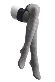 画像4: 厚手ガータータイツ 60デニール(グレー・ブラック) [VZ-029]※メール便対象【送料無料・即日発送】 (4)