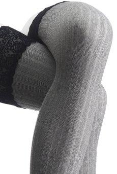 画像6: 厚手ガータータイツ 60デニール(グレー・ブラック) [VZ-029]※メール便対象【送料無料・即日発送】 (6)