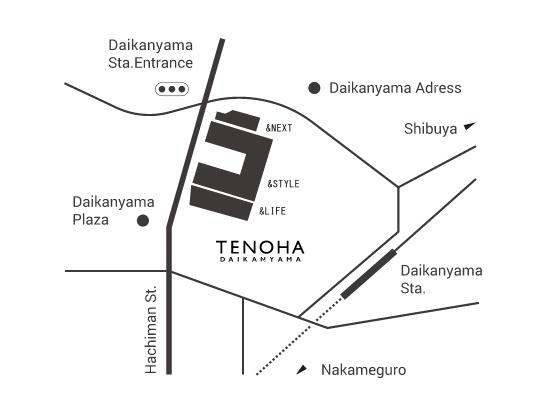 テノハ代官山 地図