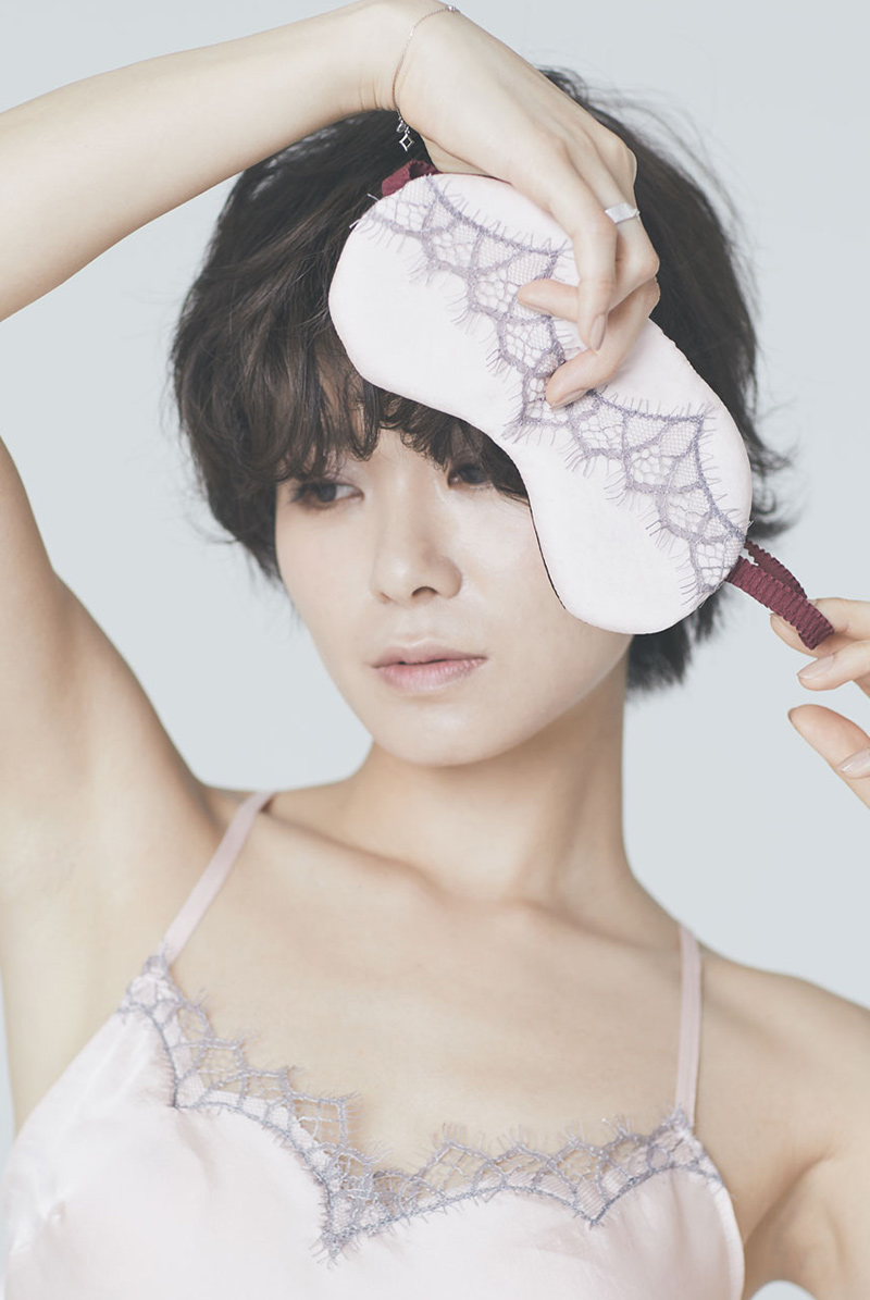 Alquarte アイマスク Calcite Pink モデル画像