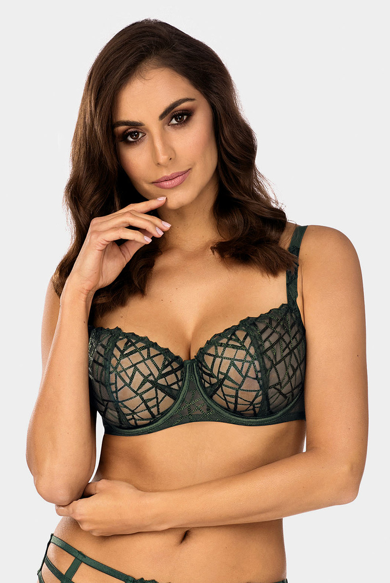 Ewa bien エヴァビアン 一枚レースブラ DIAMOND green B139 モデル画像