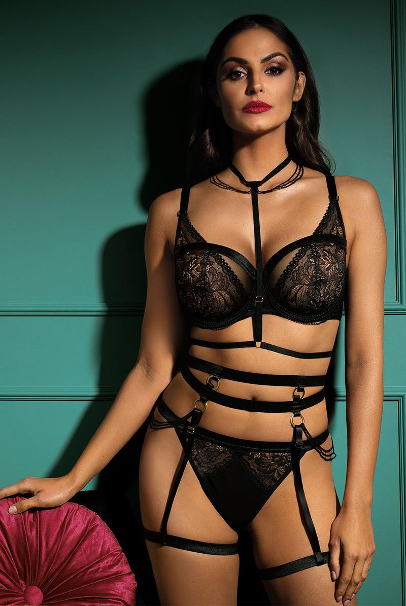 Ewa bien エヴァビアン 一枚レースブラ ALIZZE black B139 モデル画像