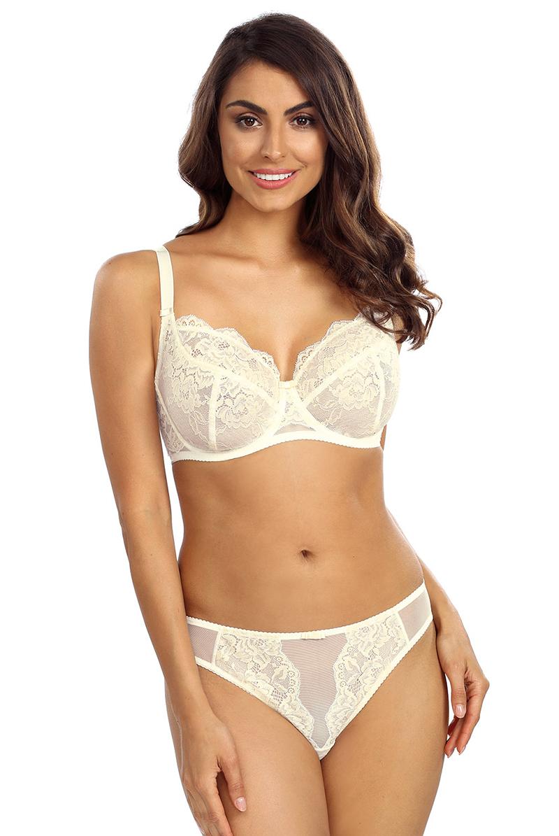 Ewa bien エヴァビアン 一枚レースブラ COLETTE cream モデル画像