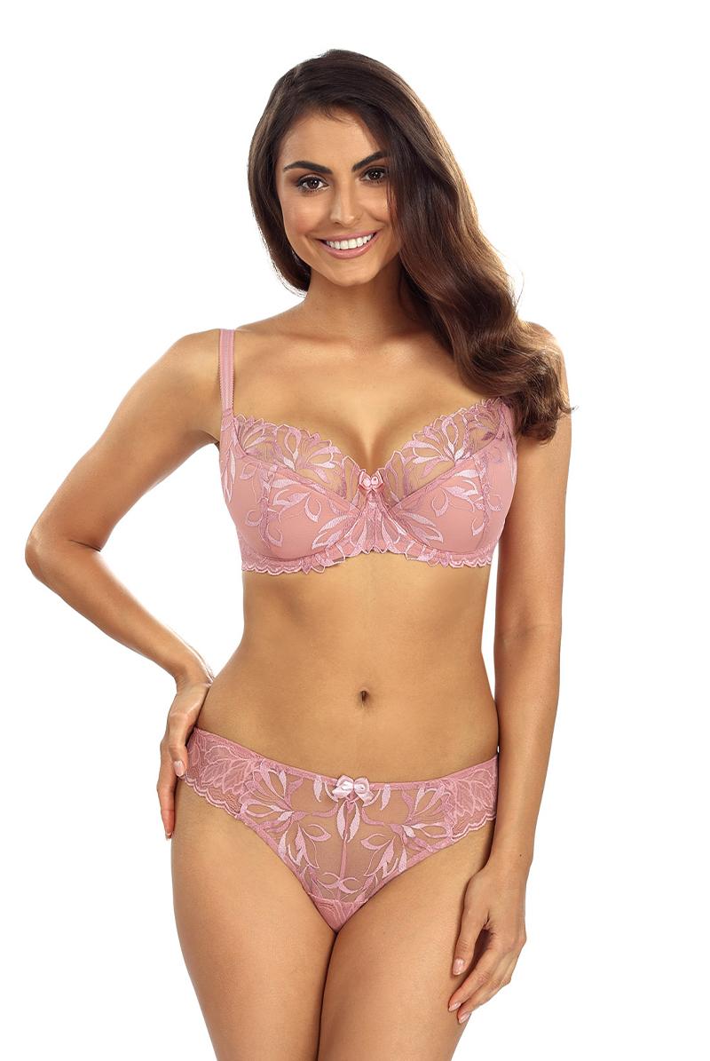 Ewa bien エヴァビアン セミソフトブラ JASMIN pink モデル画像