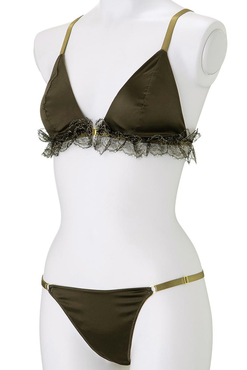 Maimia lingerie ブラレット セット Frill Weekend Set - Minuit Khaki マネキントルソー