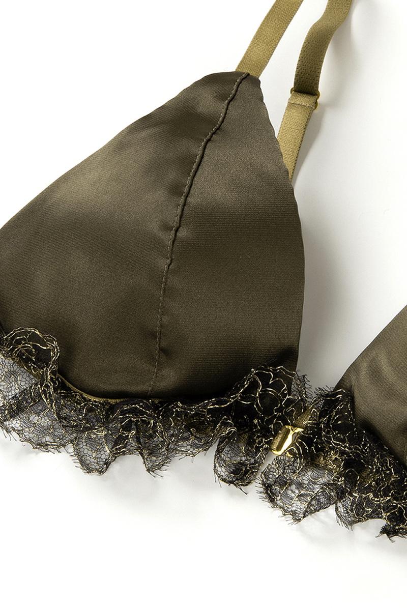 Maimia lingerie ブラレット セット Frill Weekend Set - Minuit Khaki 商品詳細