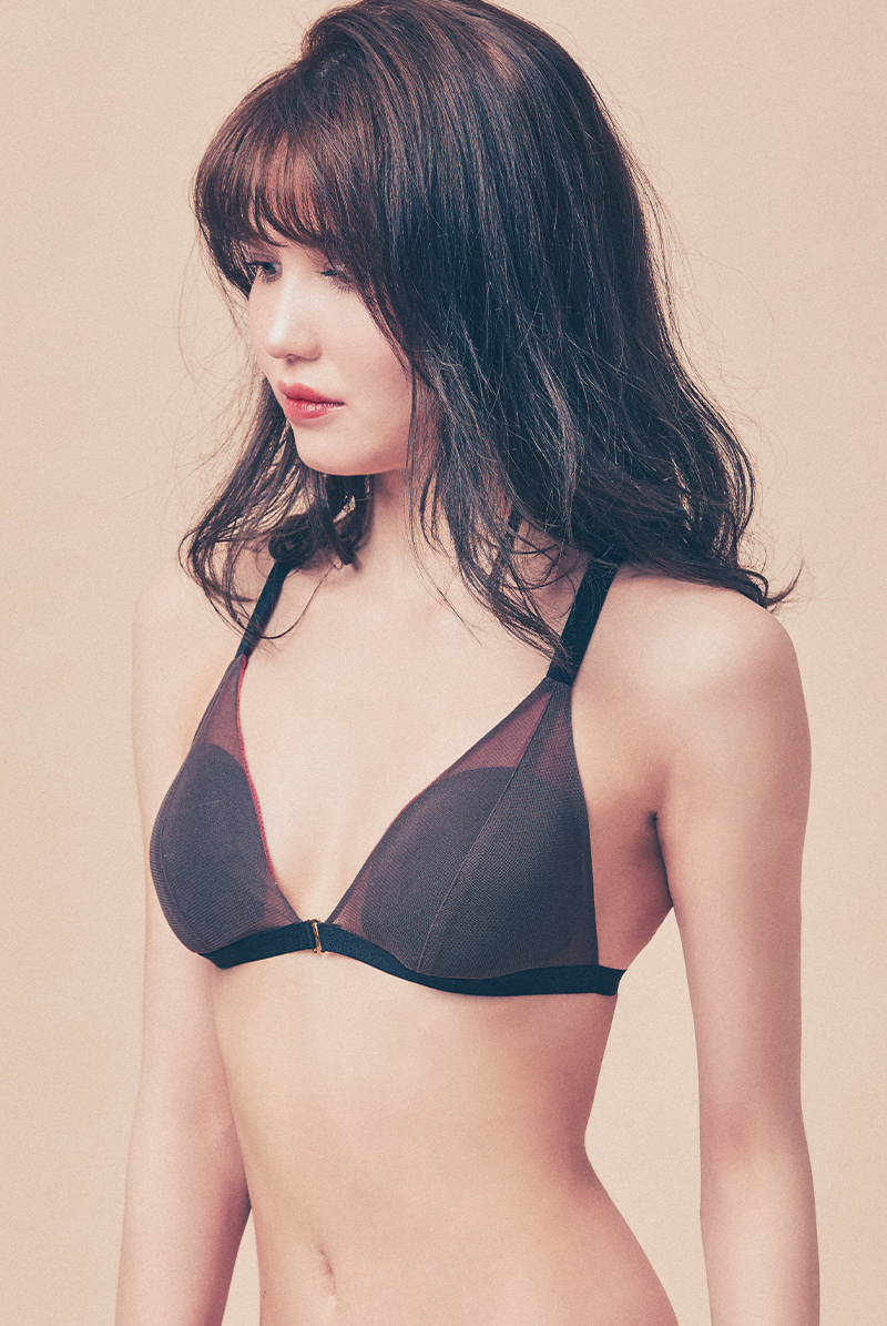 Maimia lingerie ブラレット セット Tulle Weekend Set - Groovy Shadow モデル画像