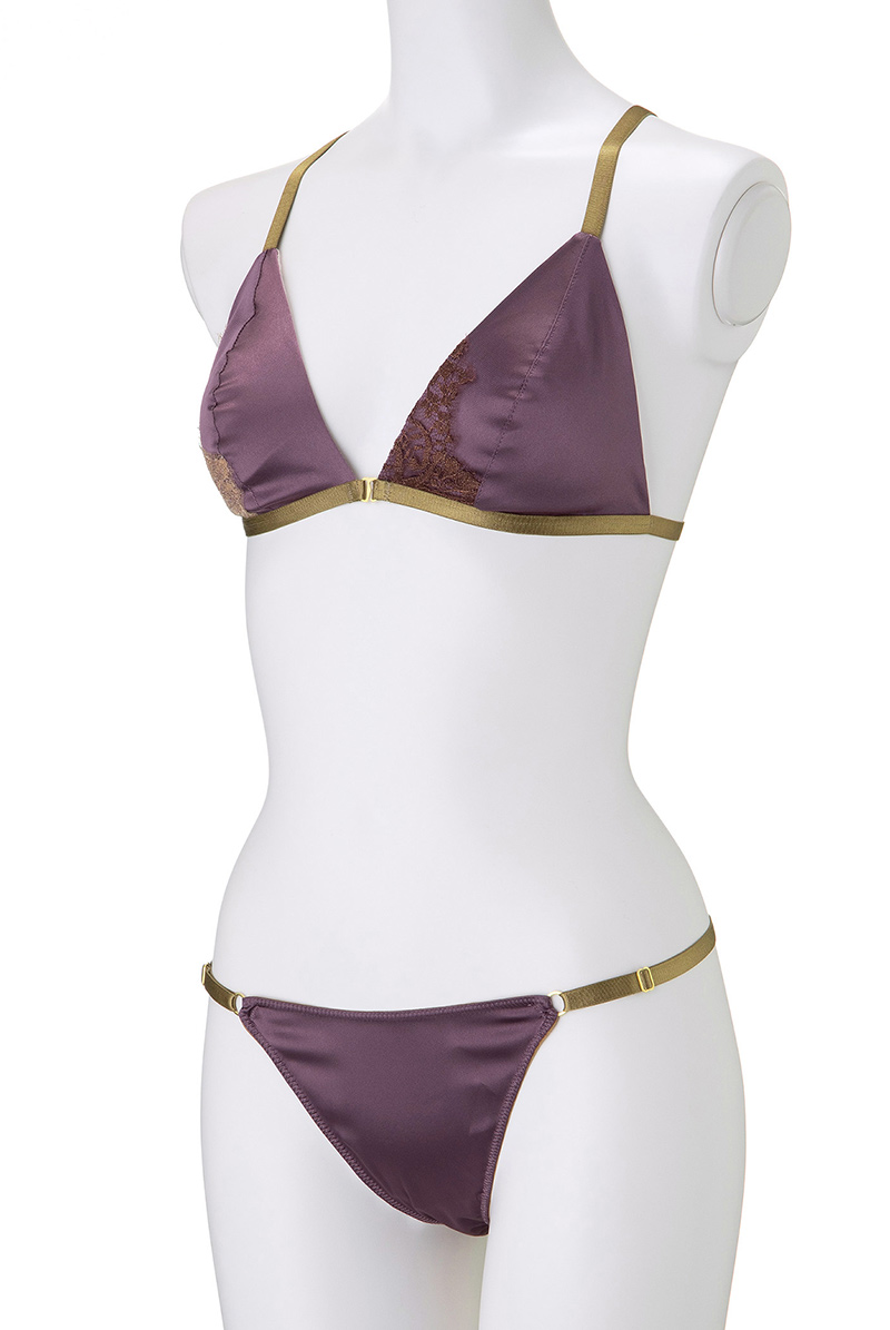 Maimia lingerie ブラレット セット Lace Weekend Set - Lefkada Purple マネキントルソー