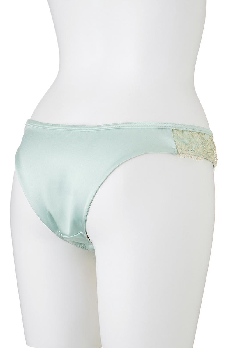 Maimia lingerie ブラジリアンタンガ Lace Back Brazilian Acquaverde マネキントルソー