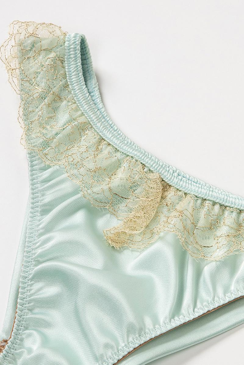 Maimia lingerie ブラジリアンタンガ Lace Back Brazilian Acquaverde 商品詳細
