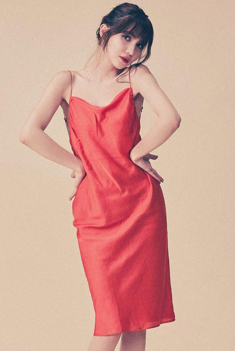 Maimia lingerie ドレス Garden Dress Arancia Rosso モデル画像