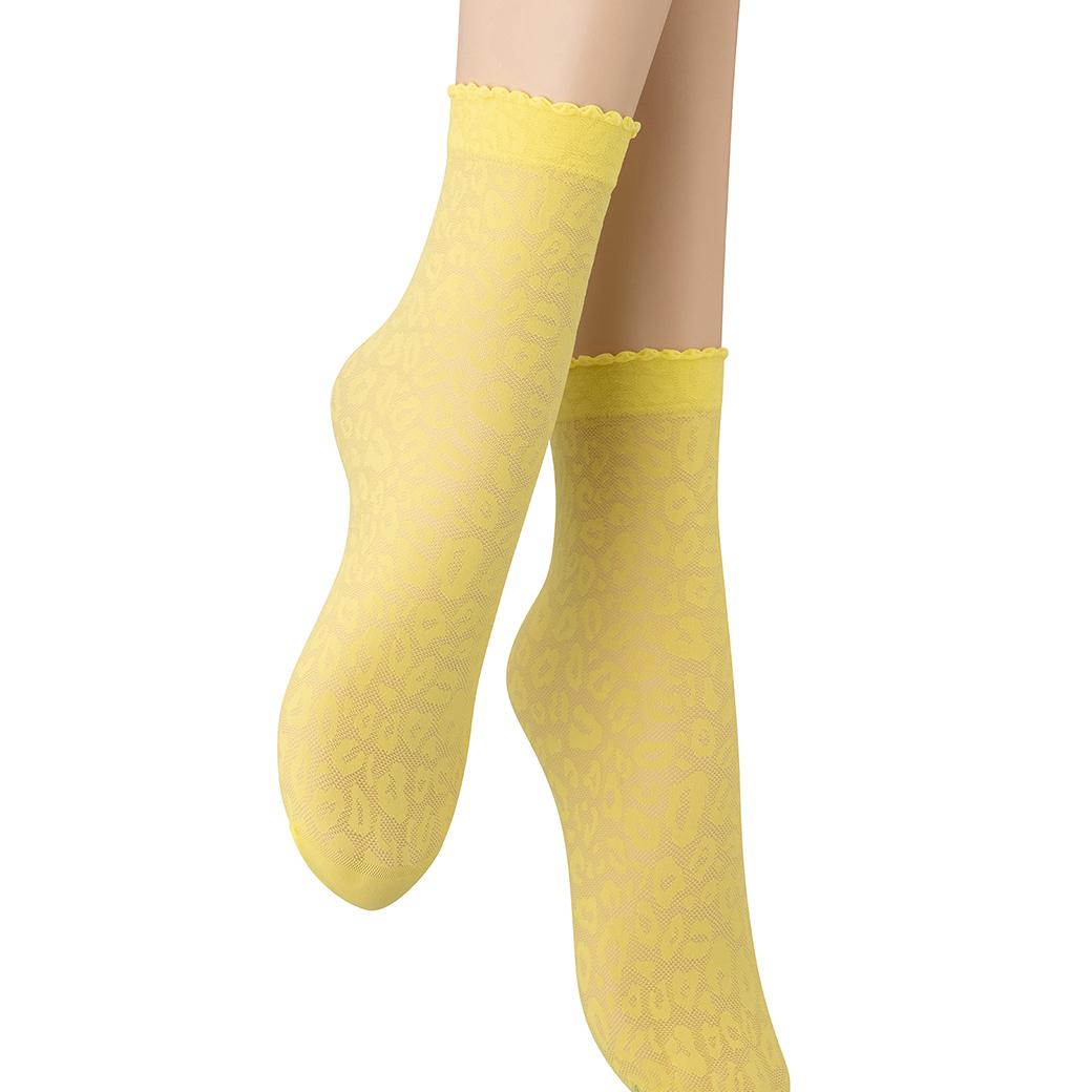 ベネチアナ ANIMAL 20 Socks giallo