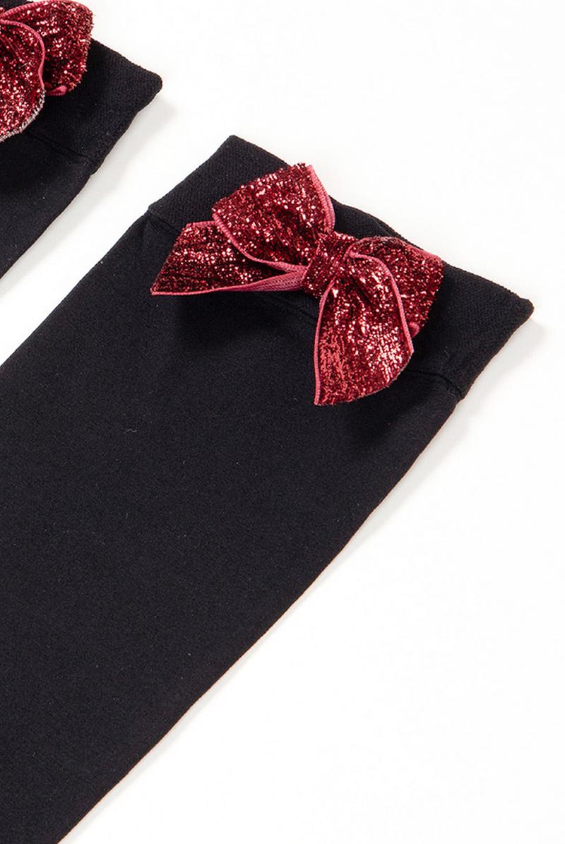 ベネチアナ FIOCCO Socks nero/rosso