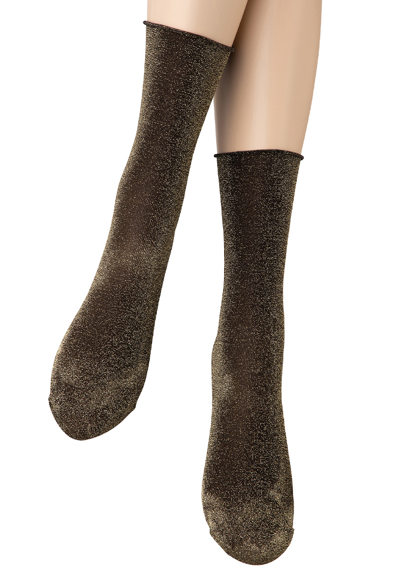 ベネチアナ FLAVIA Socks nero/lurex