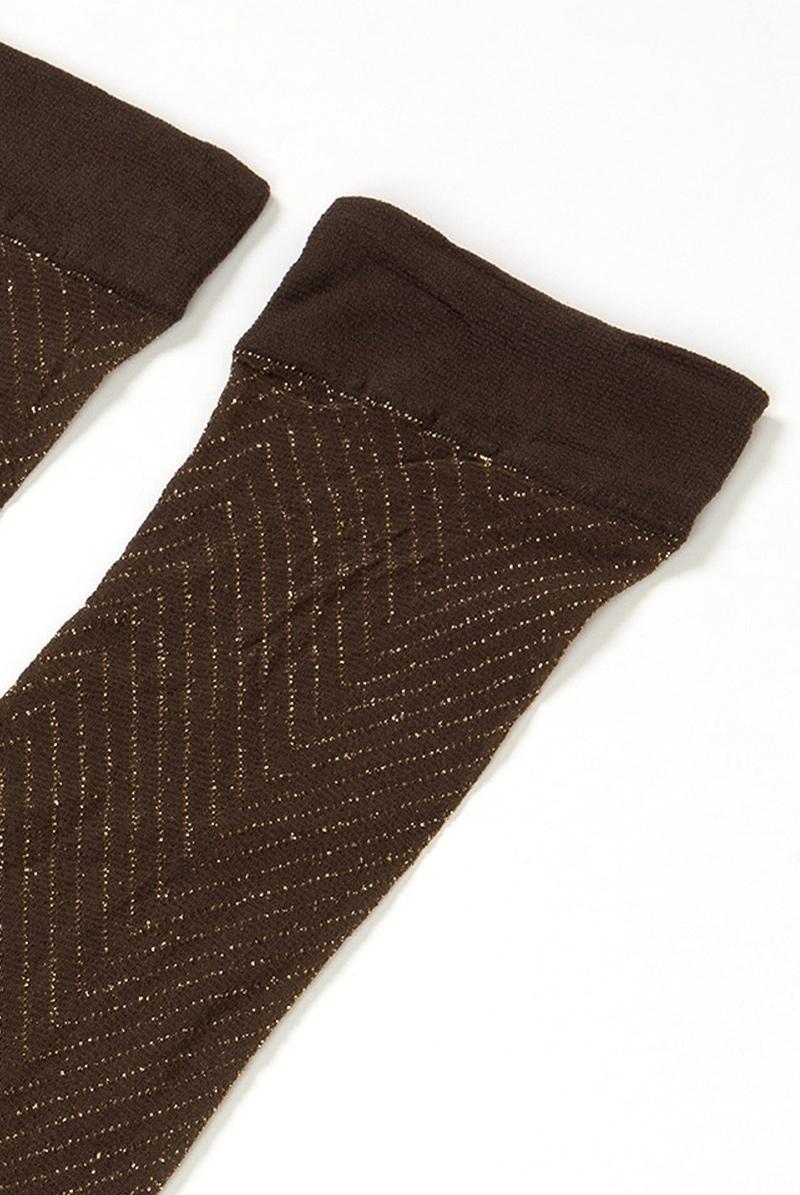 ベネチアナ JACKIE LUREX High-Socks cappucino