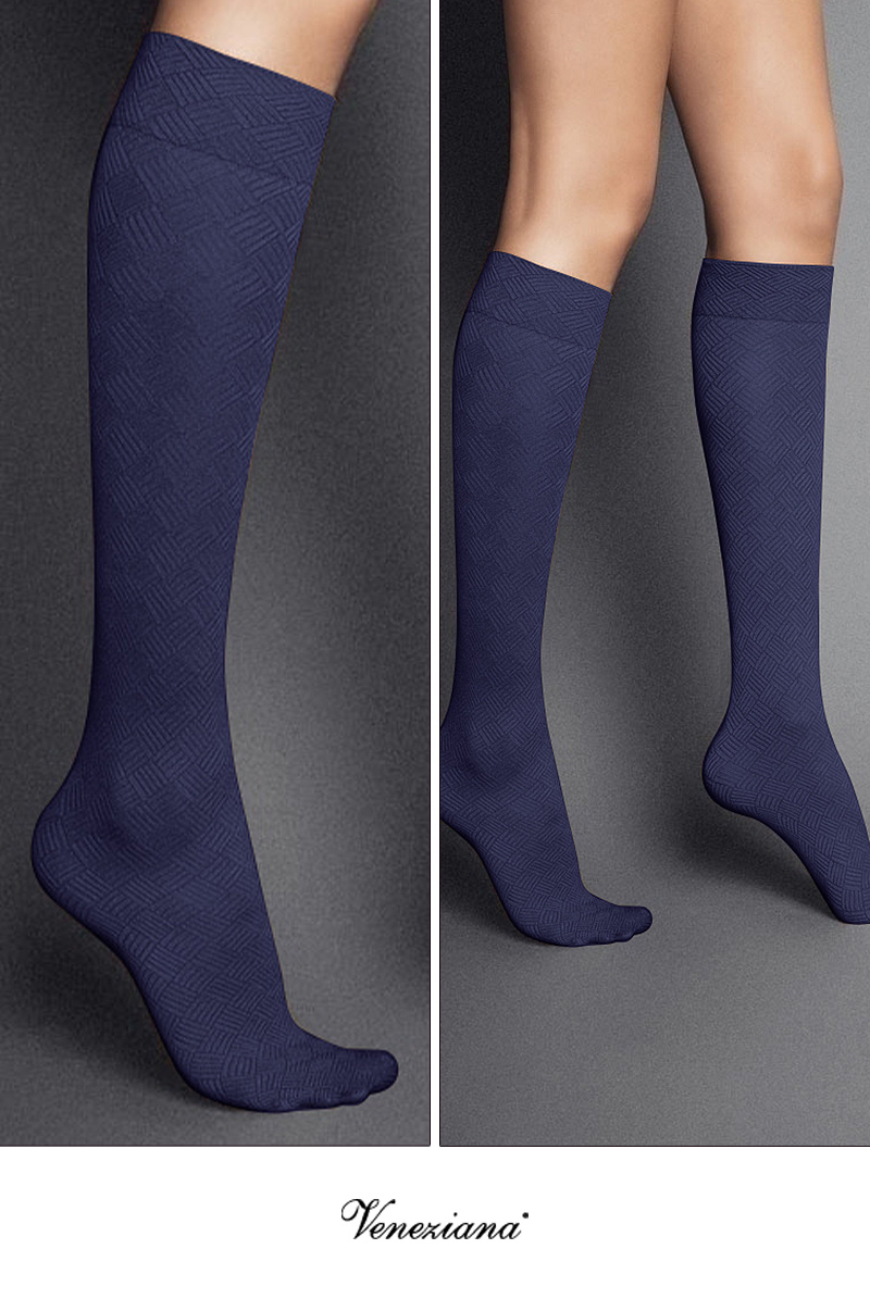ベネチアナ MOSAICO High-Socks violet