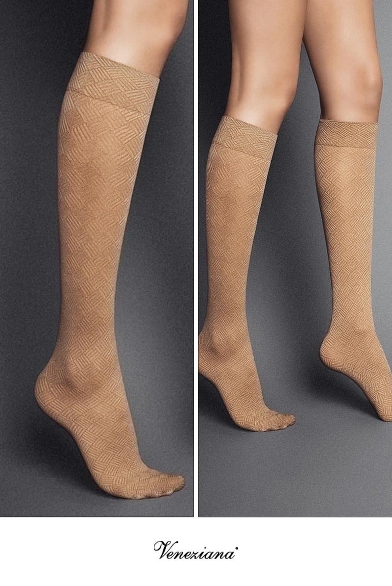 ベネチアナ MOSAICO High-Socks visone