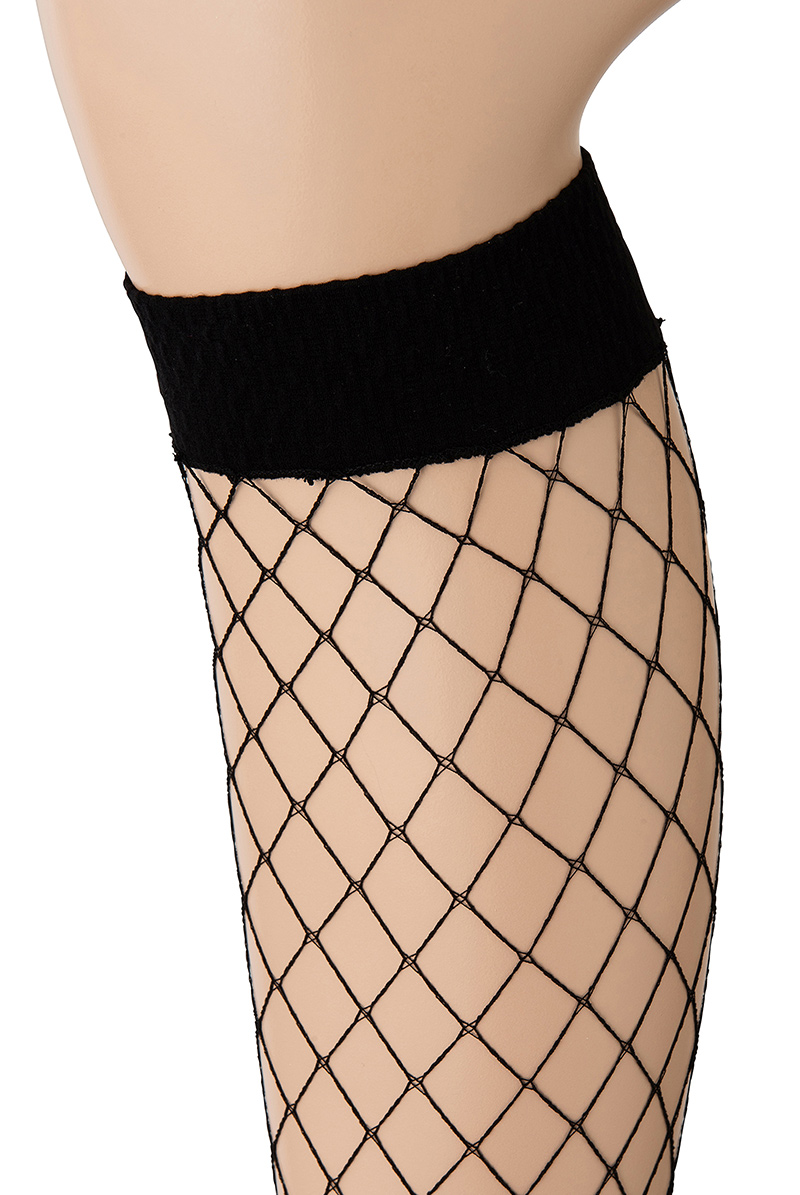 ベネチアナ RETE GRANDI High-Socks nero