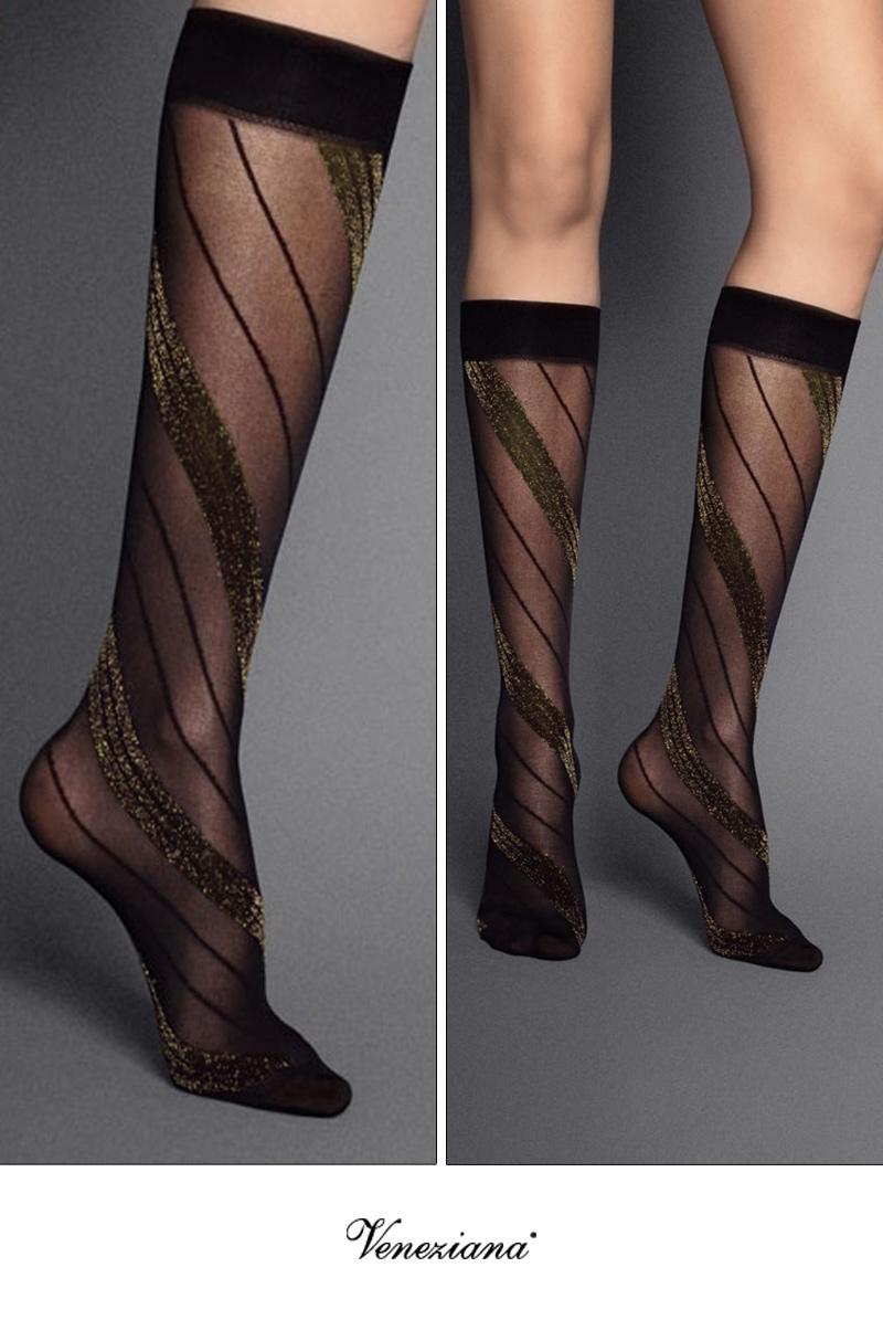 ベネチアナ SPIGA LUREX High-Socks nero