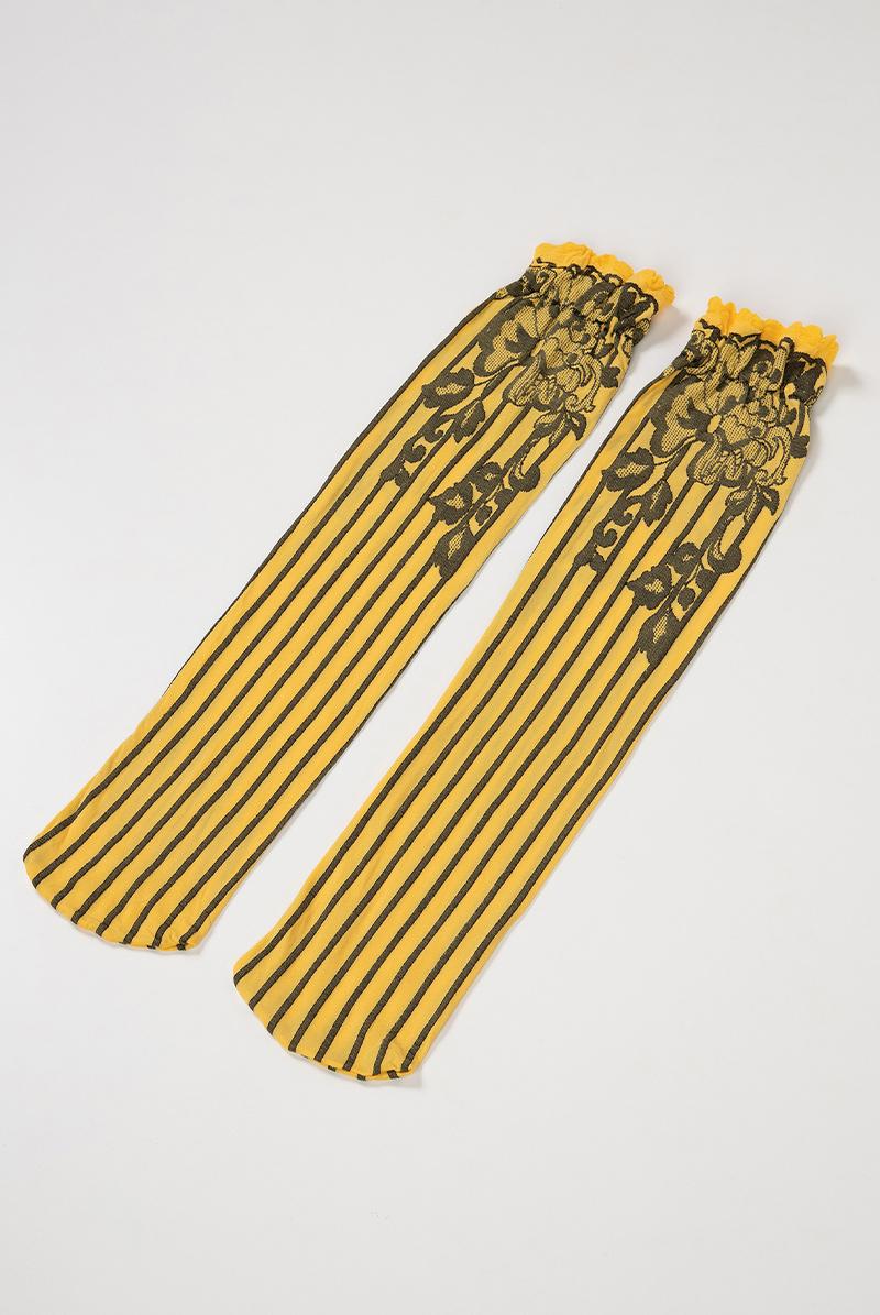 ベネチアナ YVONNE High-Socks limone-nero