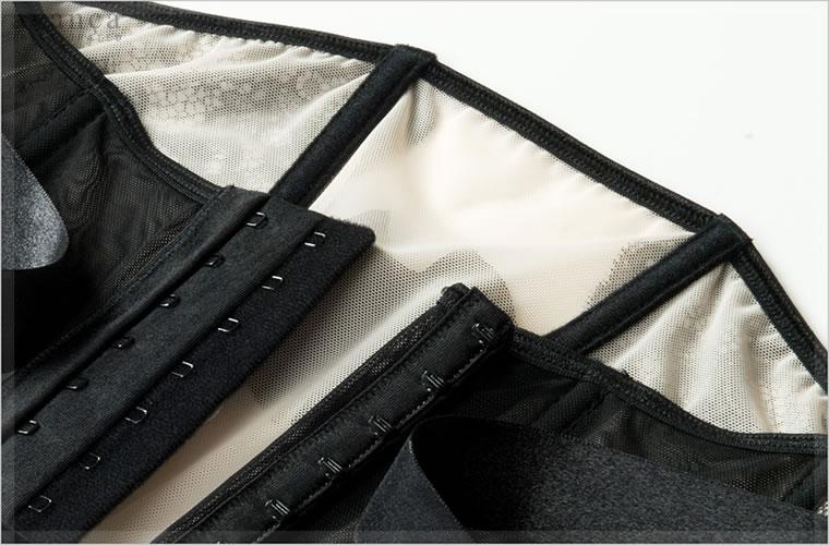 ボーンは柔らかなクッション素材で包まれ肌への当たりもソフトです。