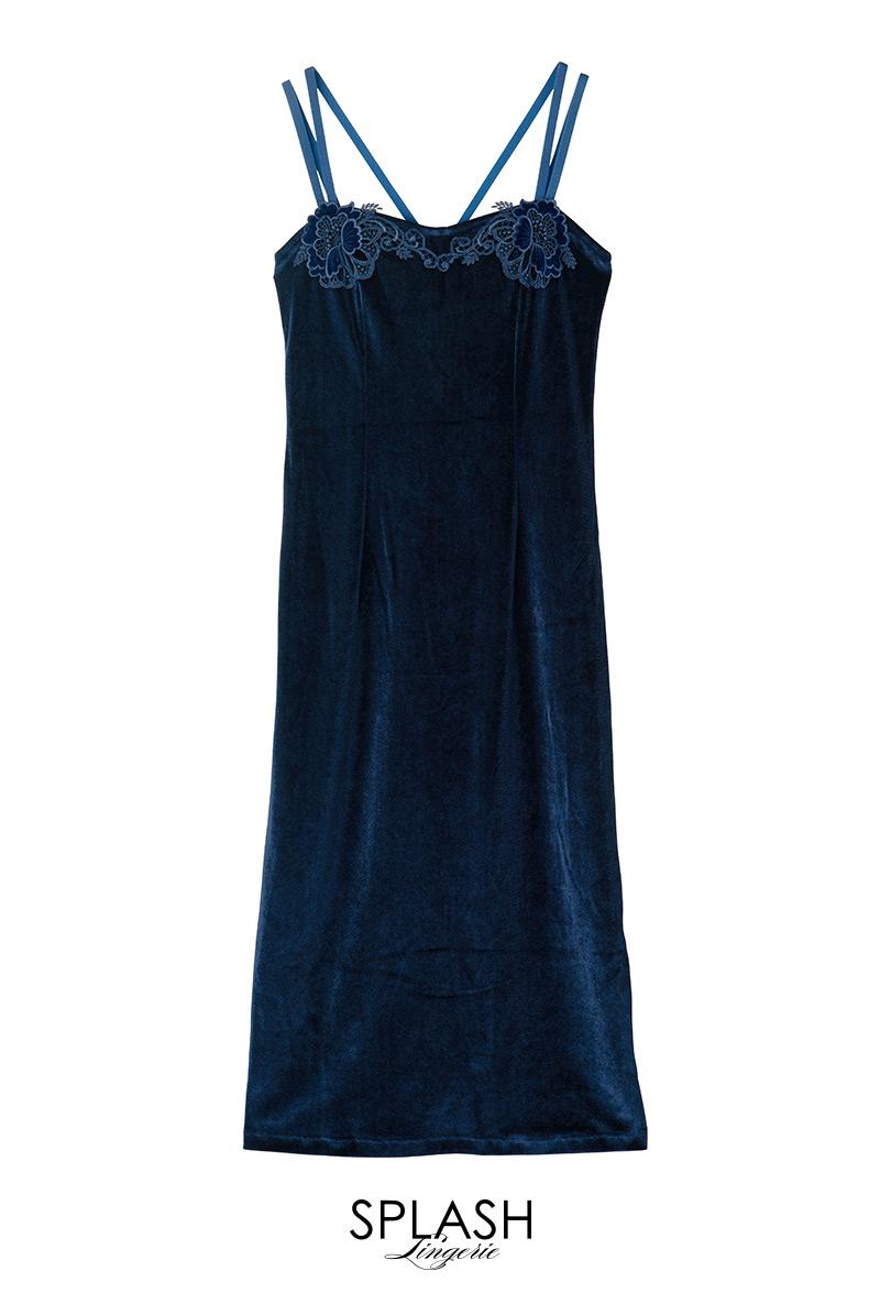 ドロレス ネイビー ナイトドレス