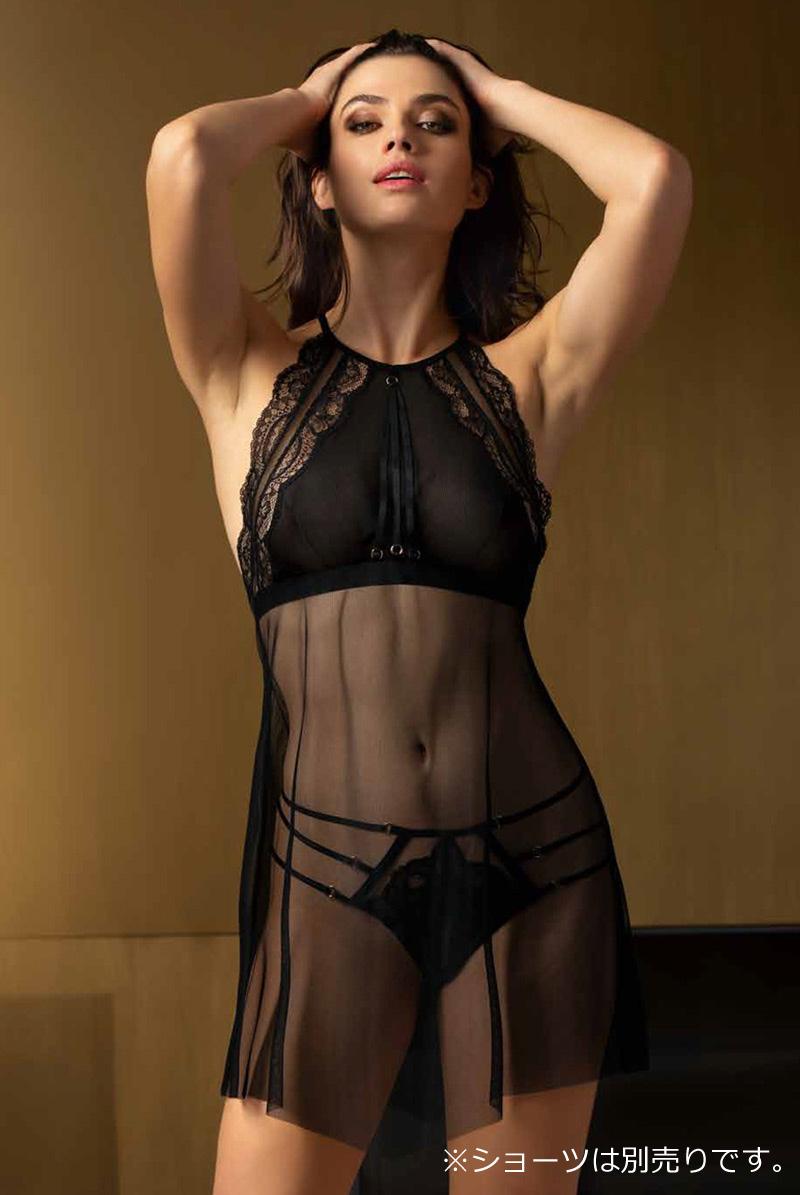 画像1: リズシャルメル Lise charmel 〈Ligne G30〉スリップドレス(ブラック)[ALG1730]【送料無料】 輸入下着・高級ランジェリー (1)