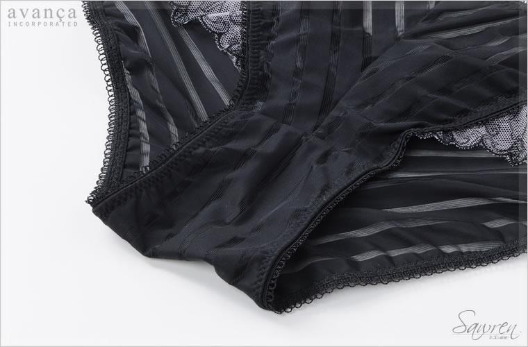 クロッチ(ショーツの股部分)は当て布付きの2枚仕立て。普段使いにも最適です。